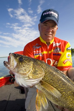 Eric Olson with a nice huge walleye