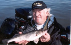 the Author Gary Engberg with an Illinois River Sauger