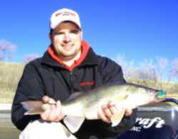 Jason with a very nice Devils Lake walleye