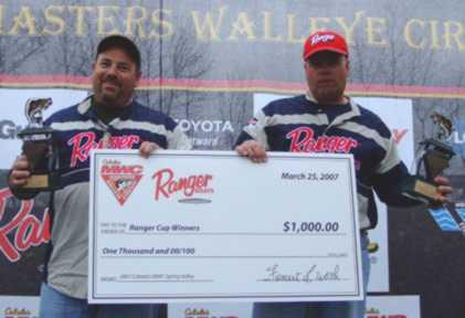 MWC Spring Valleye 2007 Tournament Winners