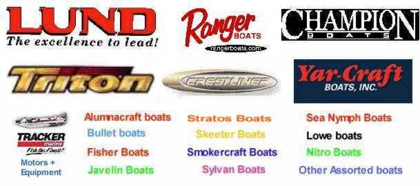 Click on boat images to go to see boats for sale of that type