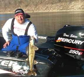 Dan Steir with a NIce Bull Shoals Lake Walleye