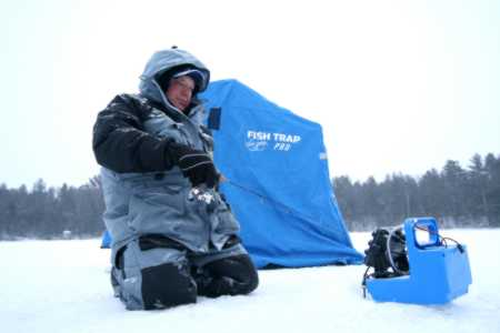 Dave Genz Ice fishing