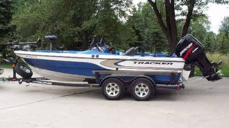 Keith kavajecz 39 s tracker boat for sale from walleyes inc for Walleye fishing boats for sale