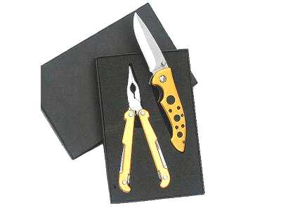 Folding Multi tool and Liner Lock Knife gift set