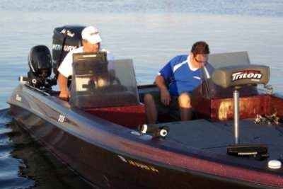 John Kolinski prefishin in his Triton boat