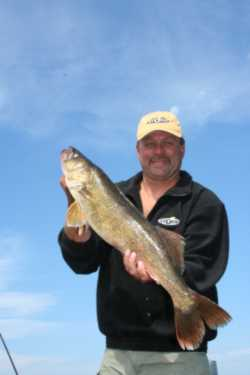 John Kolinski with a fine walleye
