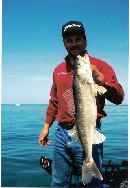 John Kolinski shows off a fine Devils Lake Walleye