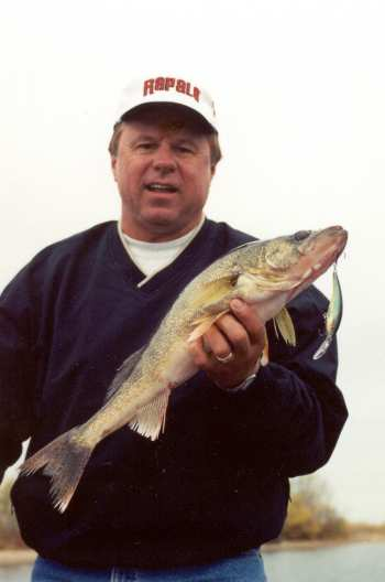Norb Wallock with a nice fall walleye
