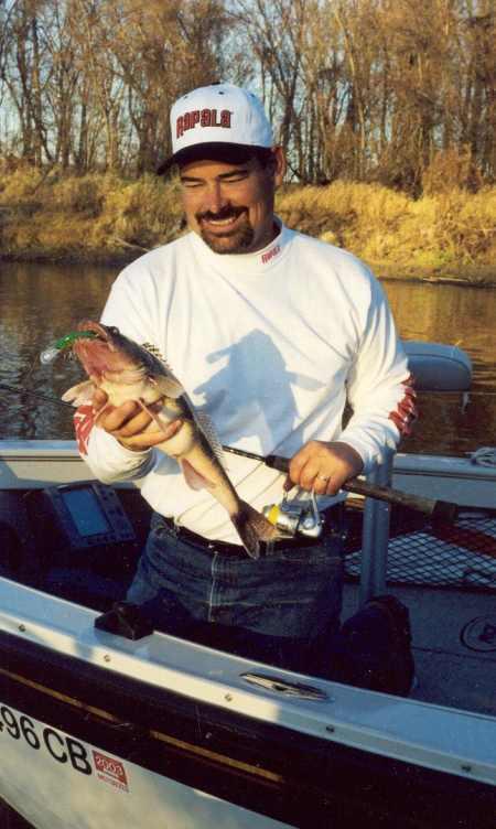 Rick Olson with a creek eye