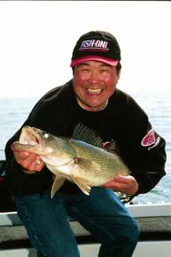 Ted Takasaki with a nice walleye