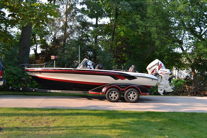 Kevin dahlhauser 39 s ranger boat for sale on walleyes inc for Walleye fishing boats for sale