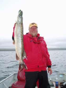 The author hoists a fine Northern Pike