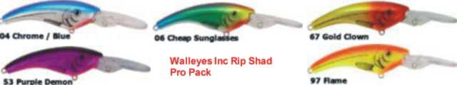 Walleyes Inc. Reef Runner Rip Shad 400 Pro Pack