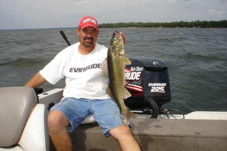 Rick Olson with a great road trip walleye