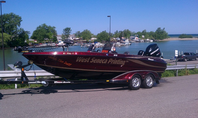 Chuck pohlmans triton boat for sale on walleyes for Walleye fishing boats for sale