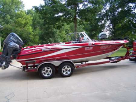 Mark michael 39 s triton boat for sale on for sale on for Walleye fishing boats for sale