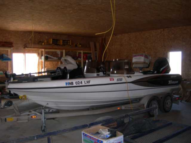 Mike mcgill 39 s triton boat for sale on walleyes for Walleye fishing boats for sale