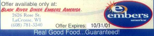 Embers America Black River diner in LaCrosse