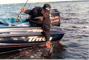 My Triton 205 helps keep me on the fish in the worst of conditions