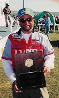 Mark Martin after taking his secoind first place plaque on the PWT