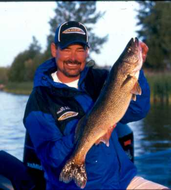 Rick Olsen the author with a Pressure Walleye