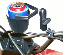 RAM 132 R Self leveling drink holder with rail mount