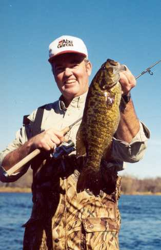 Ron Anlauf shows off a nice summer smallmouth