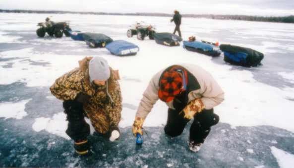 The On-Ice Team hard at work searching for spots